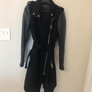 Mackage Leather Sleeve Jacket